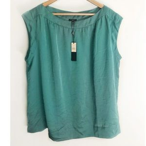 Talbots Teal Sleeveless Scoop Neck Top-Size 18 NWT